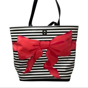 Kate Spade Poplar Court Sonora Pink Bow Beach Tote